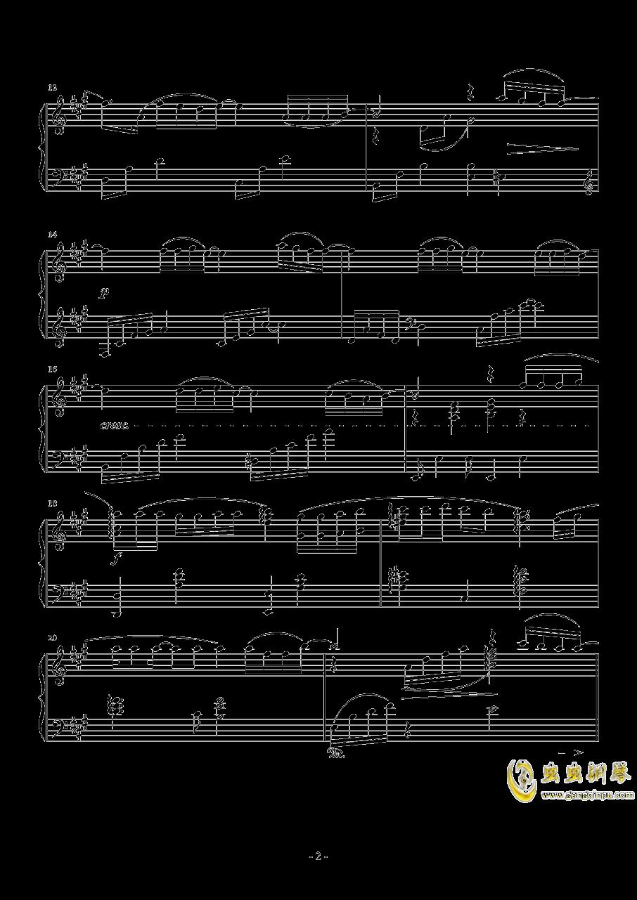 広橋真紀子-時には昔の話を(李小熊改编)钢琴谱 第2页