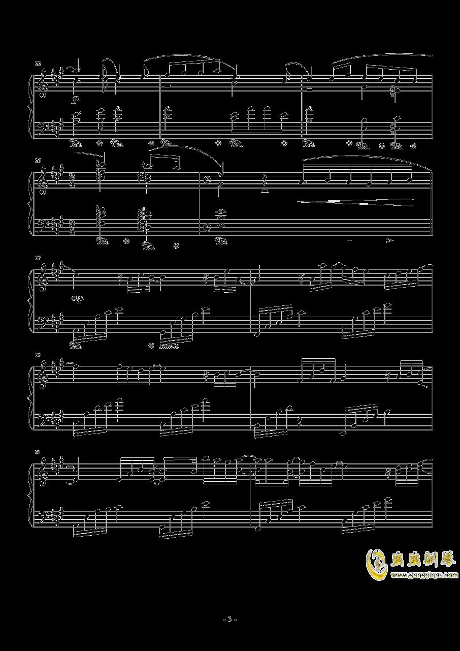 広橋真紀子-時には昔の話を(李小熊改编)钢琴谱 第3页
