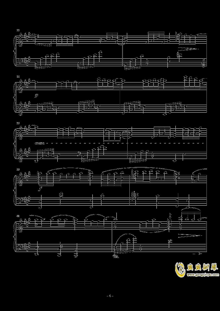 広橋真紀子-時には昔の話を(李小熊改编)钢琴谱 第4页