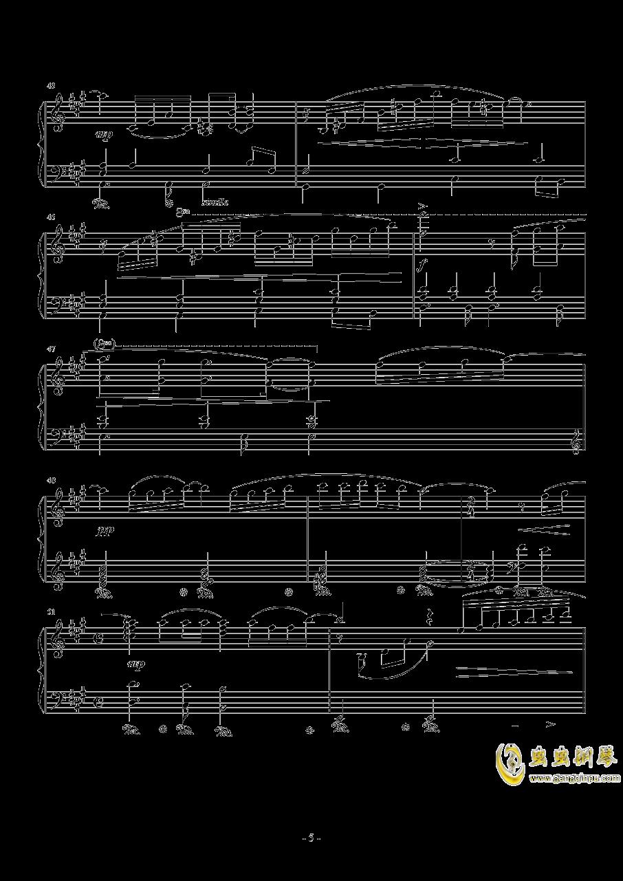 広橋真紀子-時には昔の話を(李小熊改编)钢琴谱 第5页