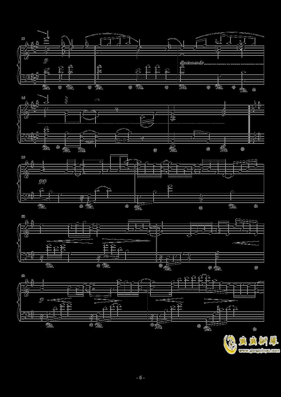 広橋真紀子-時には昔の話を(李小熊改编)钢琴谱 第6页