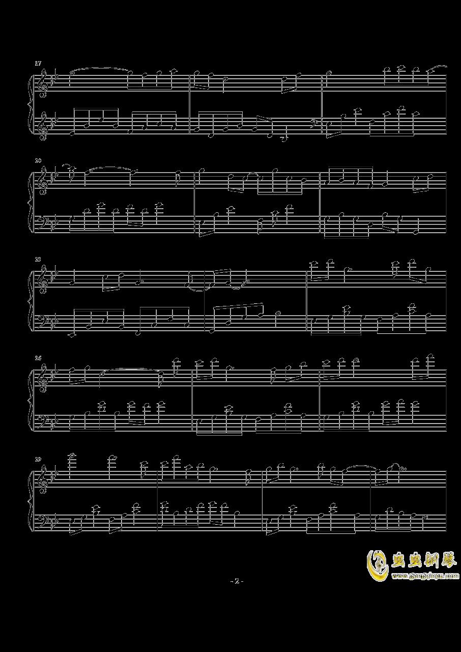 初见钢琴谱 第2页