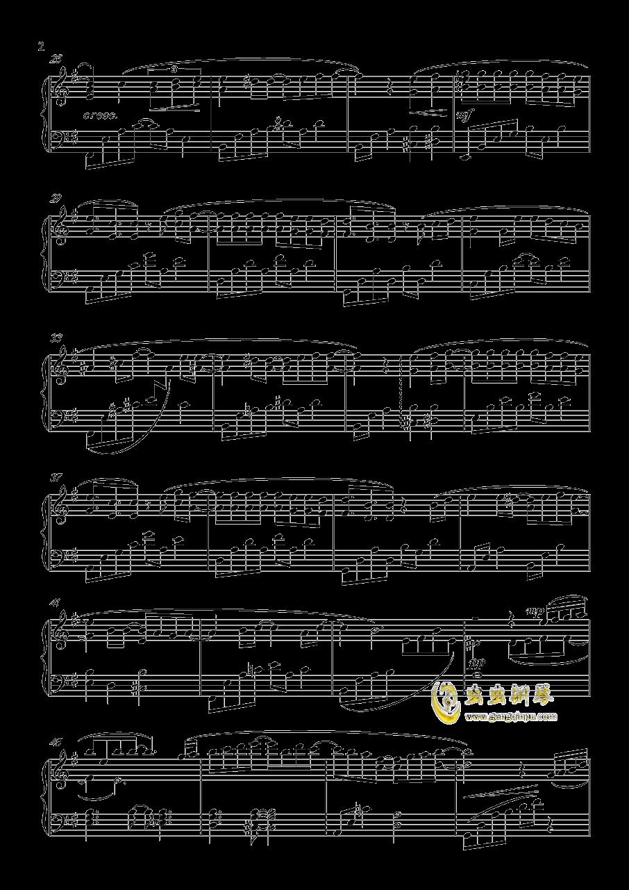 命运钢琴谱 第2页