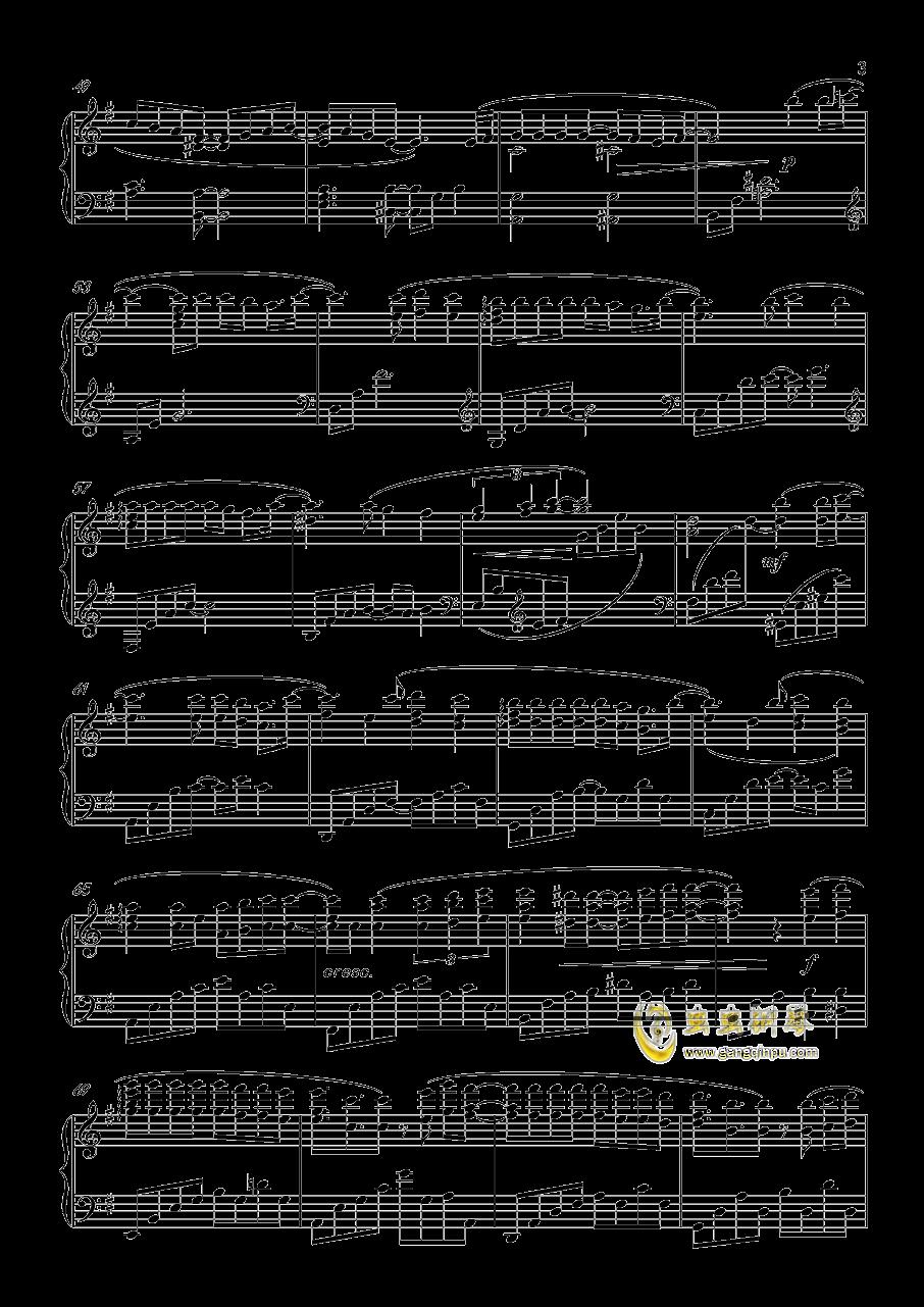 命运钢琴谱 第3页