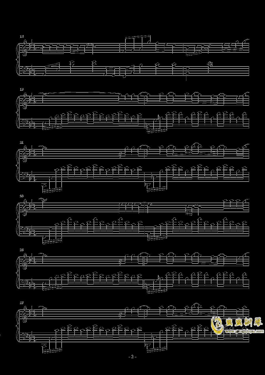 没有意外钢琴谱 第2页
