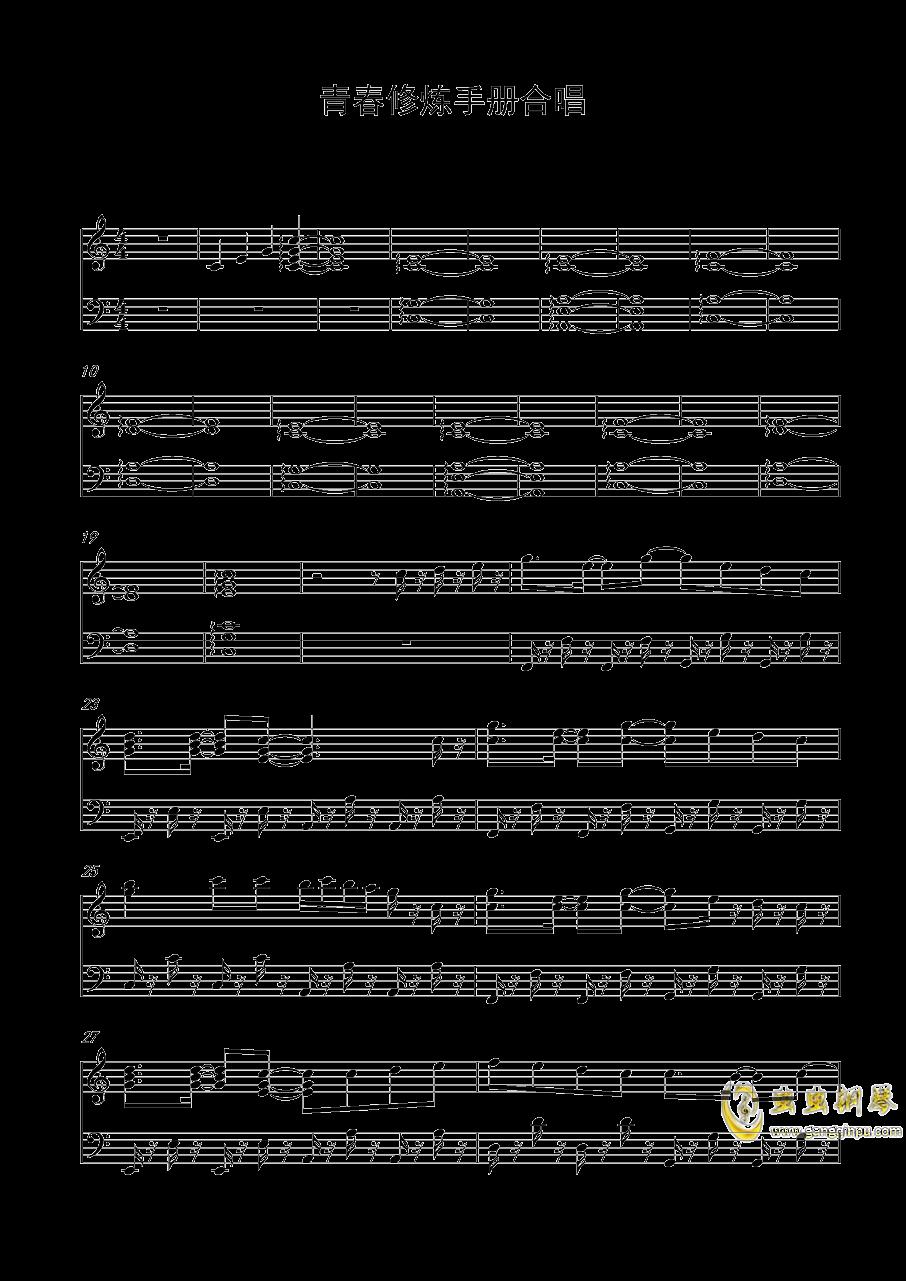 青春修炼手册钢琴谱 第1页