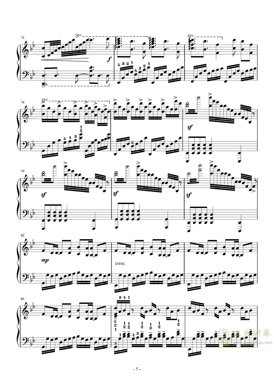 Unravel钢琴谱 第5页