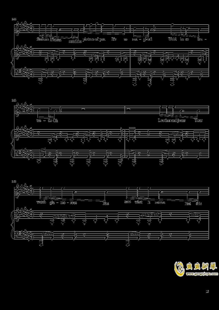 演唱会歌曲串烧弹唱谱钢琴谱 第15页