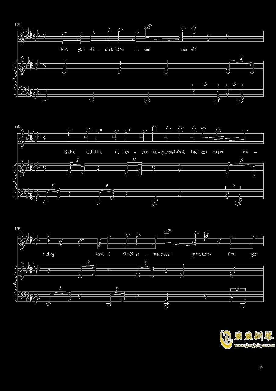 演唱会歌曲串烧弹唱谱钢琴谱 第19页