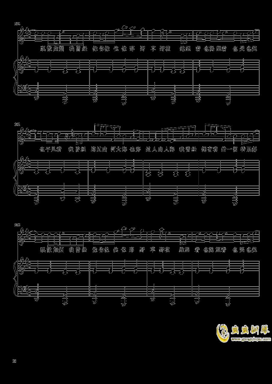 演唱会歌曲串烧弹唱谱钢琴谱 第28页