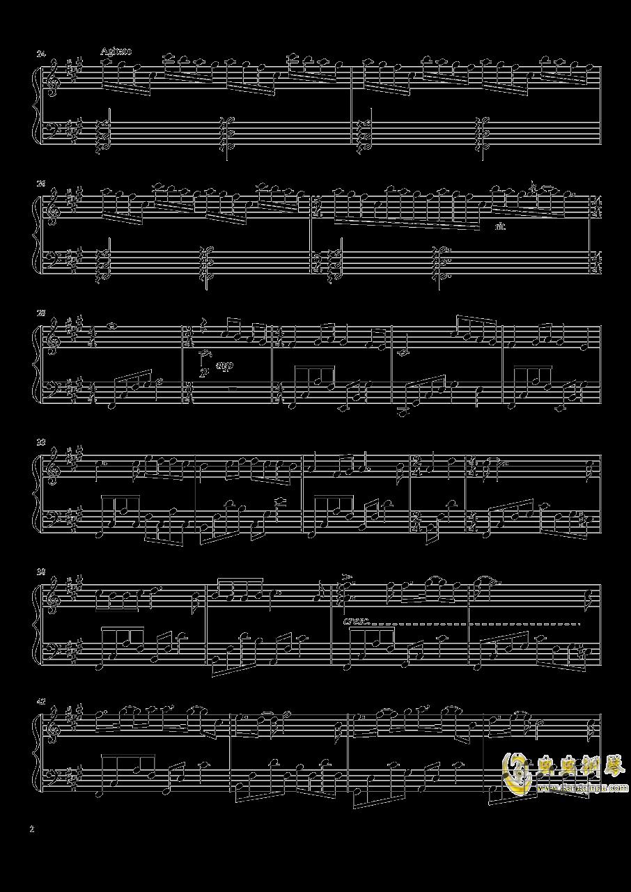 月光里钢琴谱 第2页