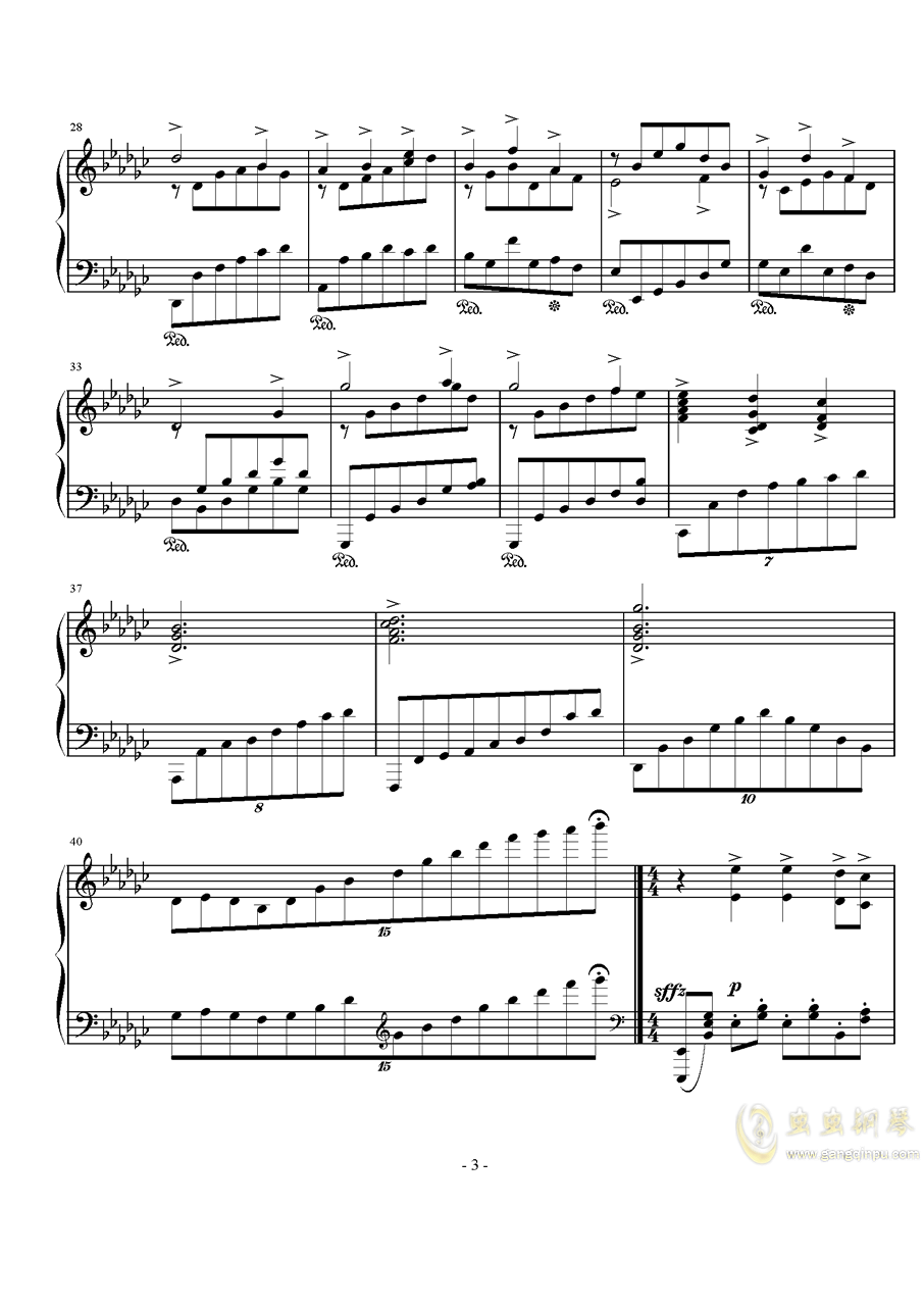 Op.40,前奏曲钢琴谱 第3页