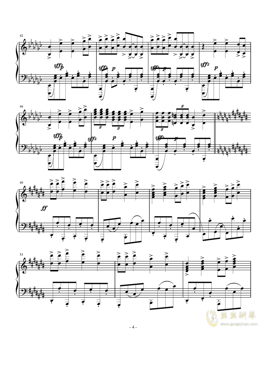 Op.40,前奏曲钢琴谱 第4页