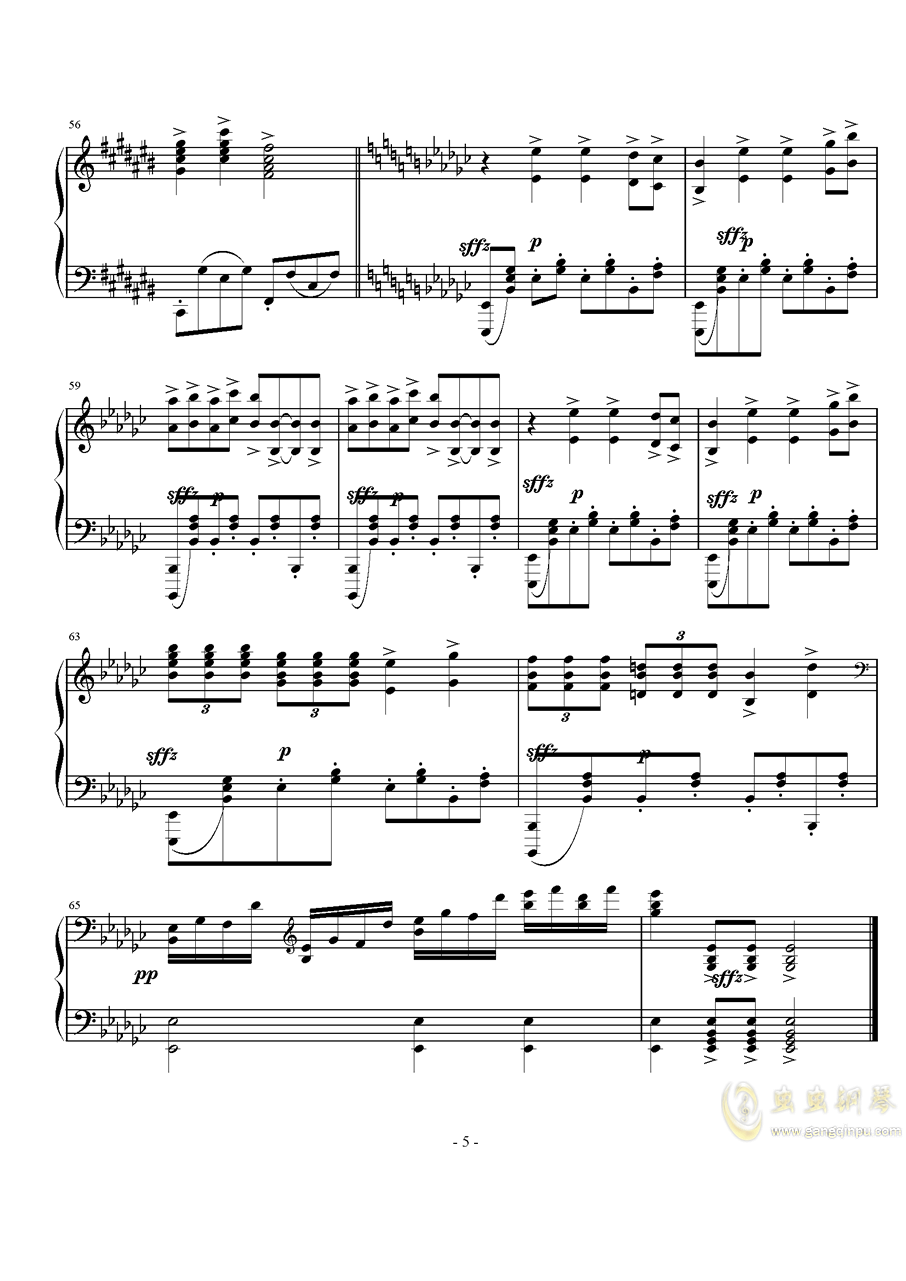 Op.40,前奏曲钢琴谱 第5页