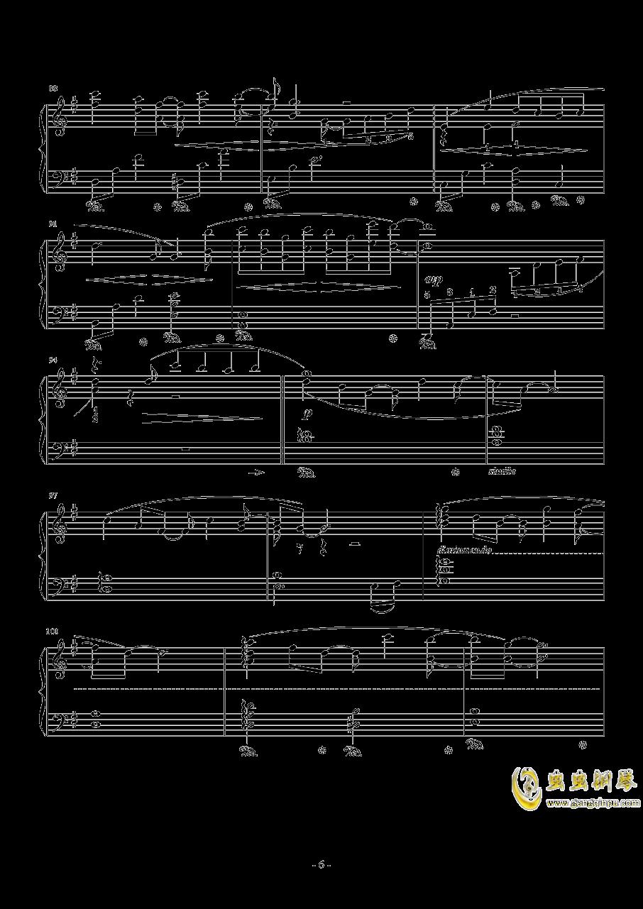 となりのトトロ钢琴谱 第6页