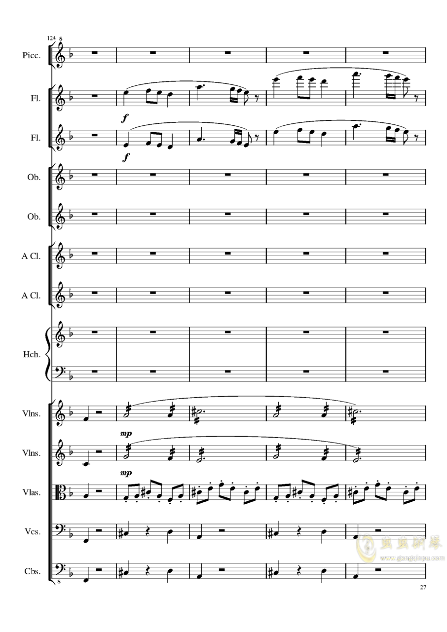 7 Contredanses No.1-7, Op.124 (7首乡村舞曲,第一至第七,作品124)钢琴谱 第27页
