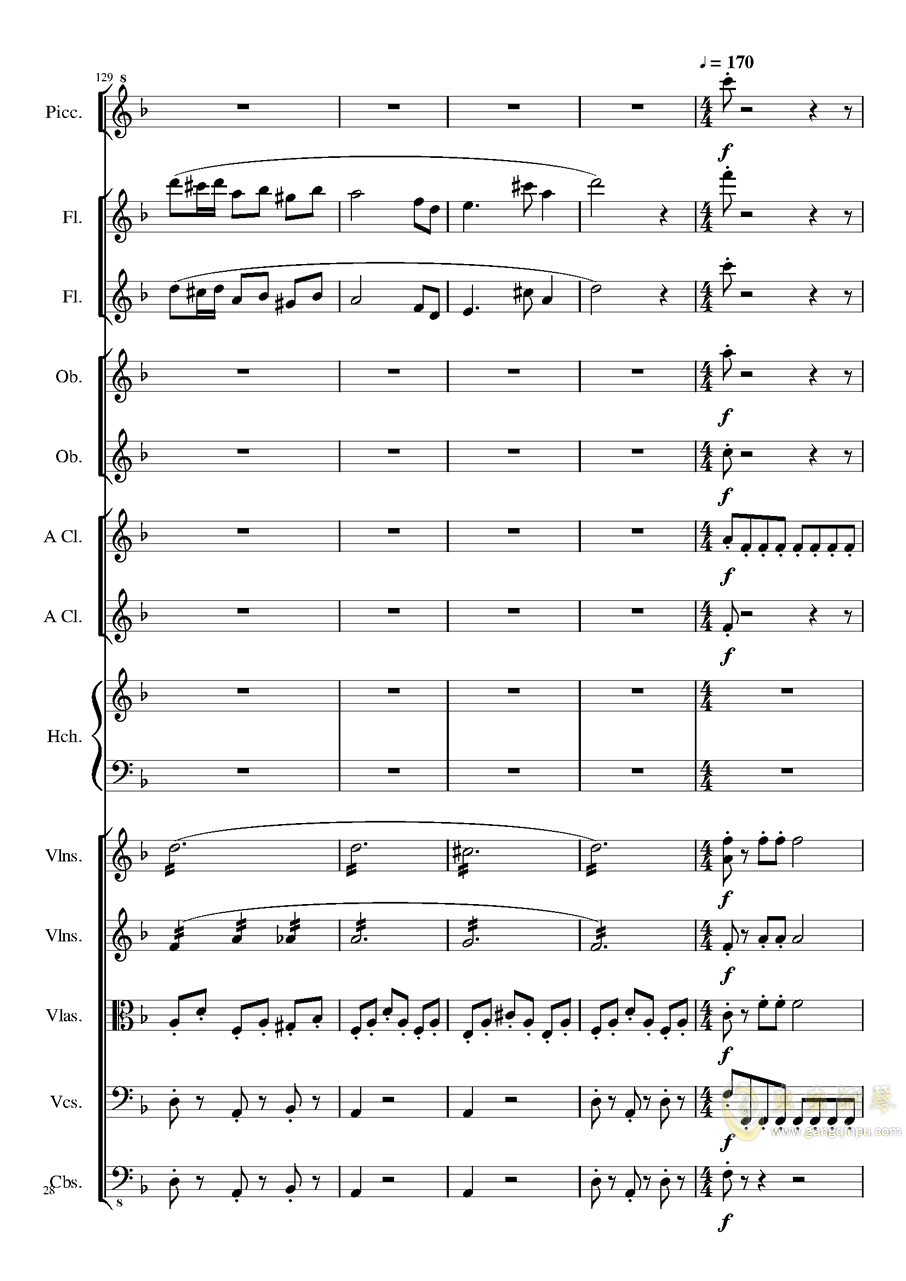 7 Contredanses No.1-7, Op.124 (7首乡村舞曲,第一至第七,作品124)钢琴谱 第28页