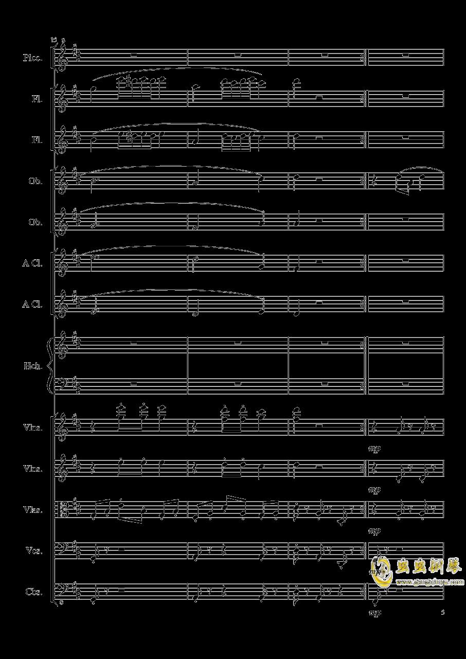 7 Contredanses No.1-7, Op.124 (7首乡村舞曲,第一至第七,作品124)钢琴谱 第5页