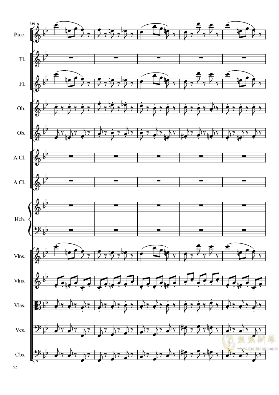 7 Contredanses No.1-7, Op.124 (7首乡村舞曲,第一至第七,作品124)钢琴谱 第52页