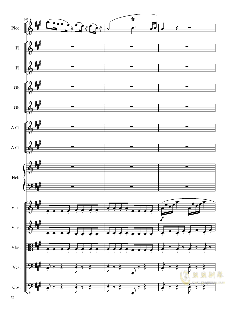 7 Contredanses No.1-7, Op.124 (7首乡村舞曲,第一至第七,作品124)钢琴谱 第72页