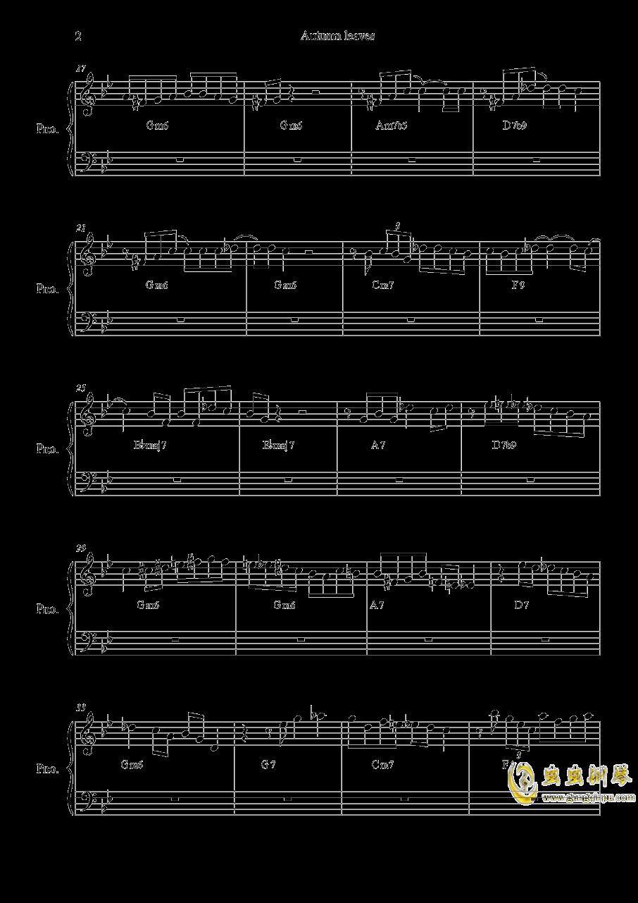 autumn  leaves钢琴谱 第2页