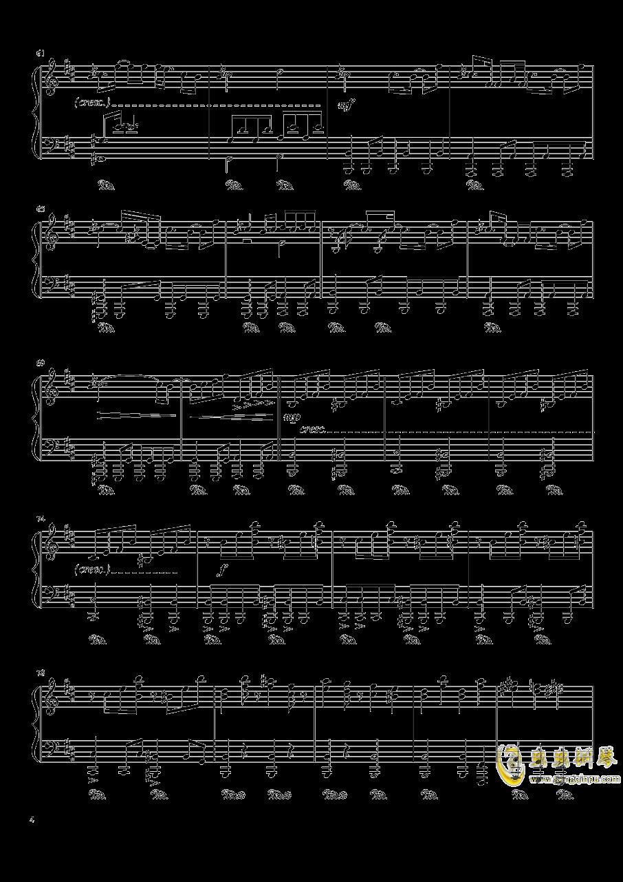 平安时代的外星人钢琴谱 第4页