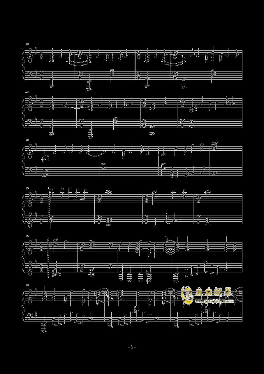 SunFlower钢琴谱 第2页