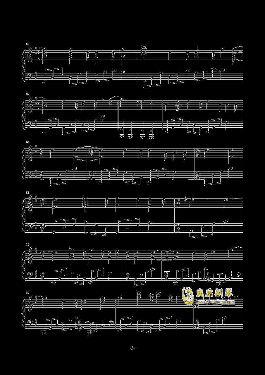SunFlower钢琴谱 第3页