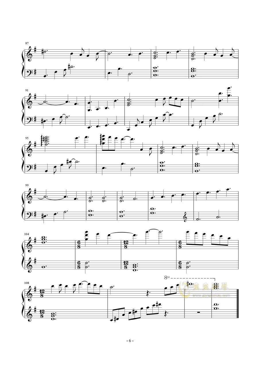 SunFlower钢琴谱 第4页