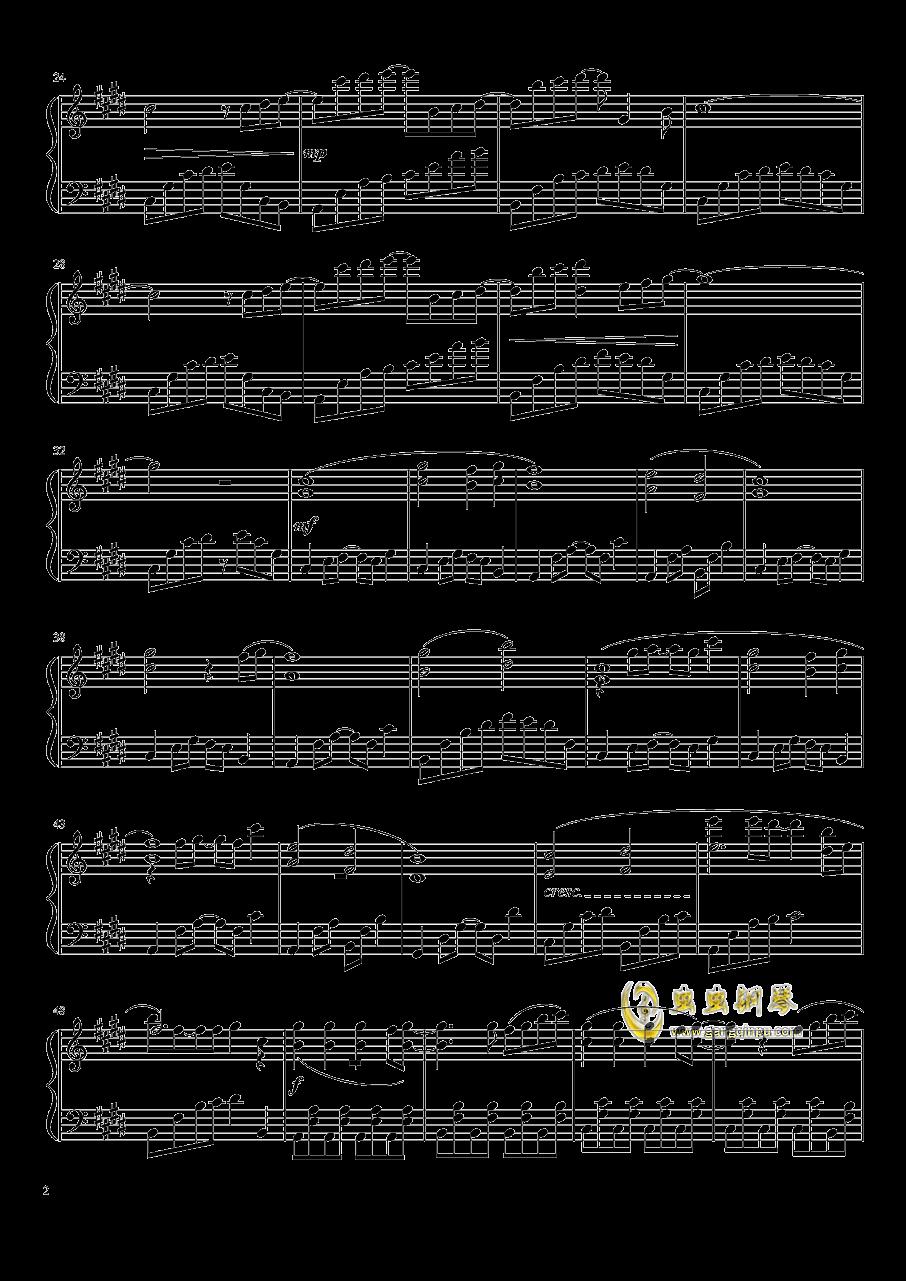 花時計と夢钢琴谱 第2页
