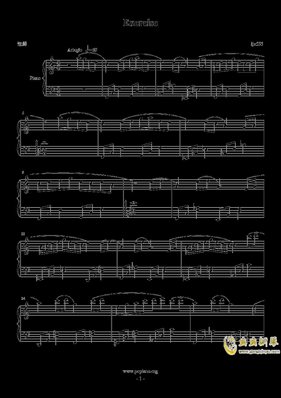 Exercise钢琴谱 第1页