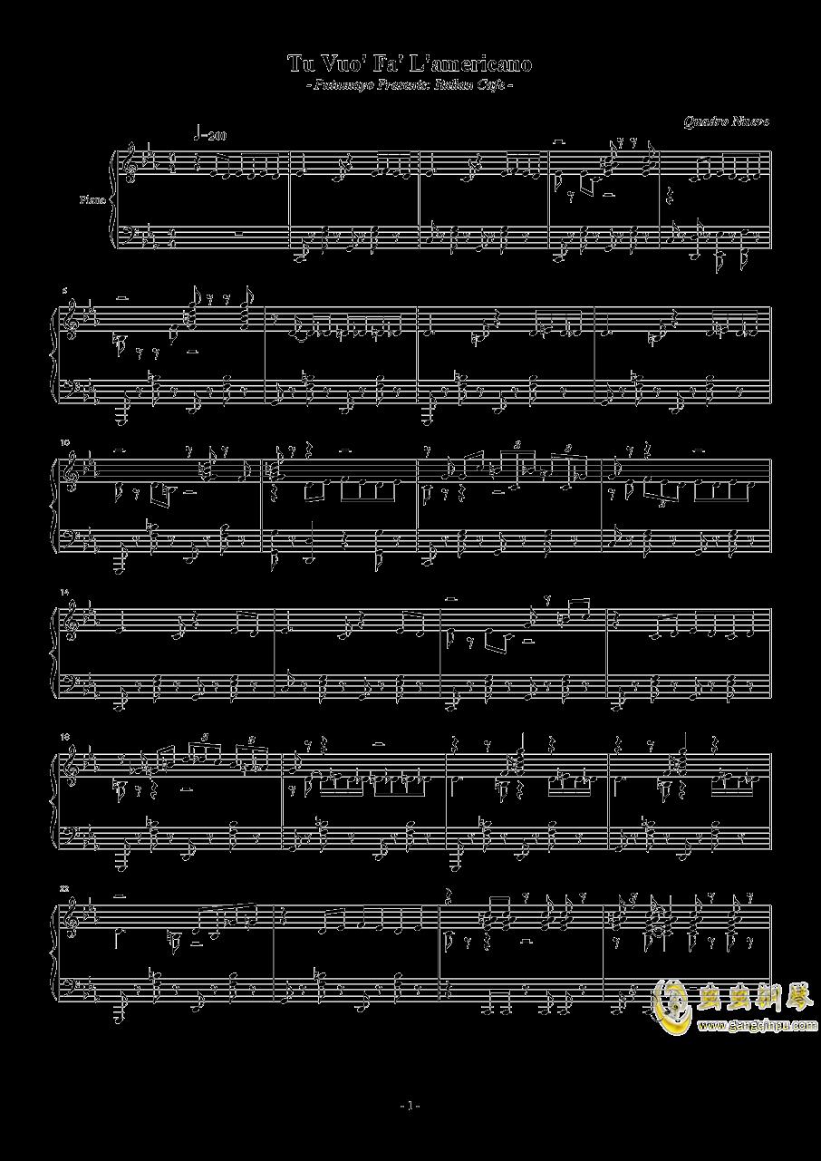 Tu Vuo钢琴谱 第1页