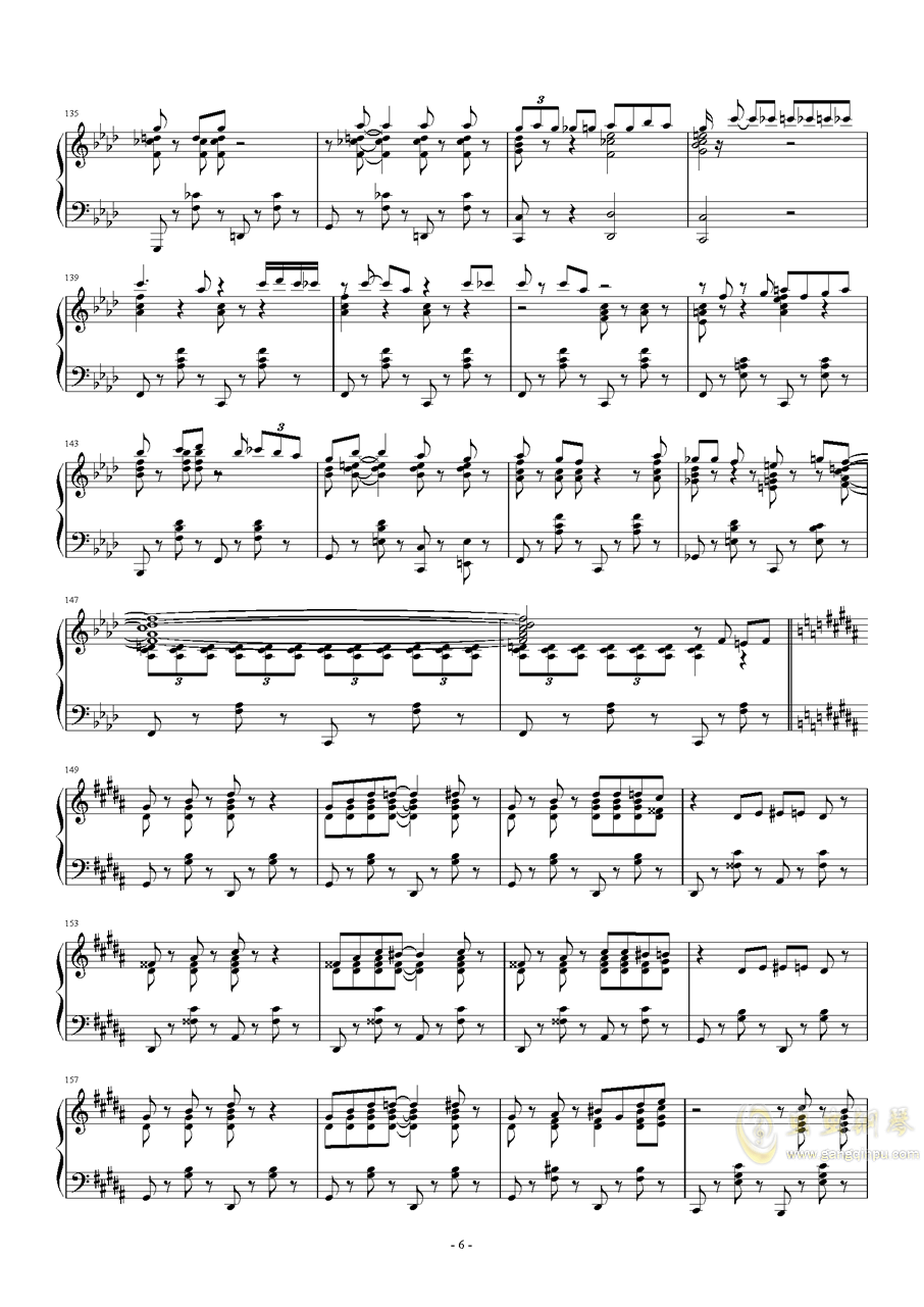 Tu Vuo钢琴谱 第6页