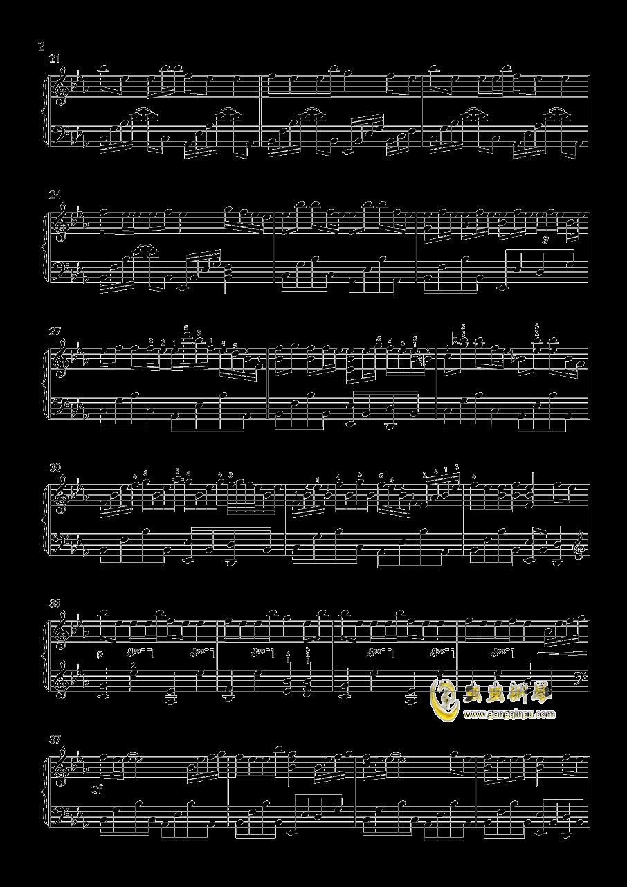 勾指起誓钢琴谱 第2页