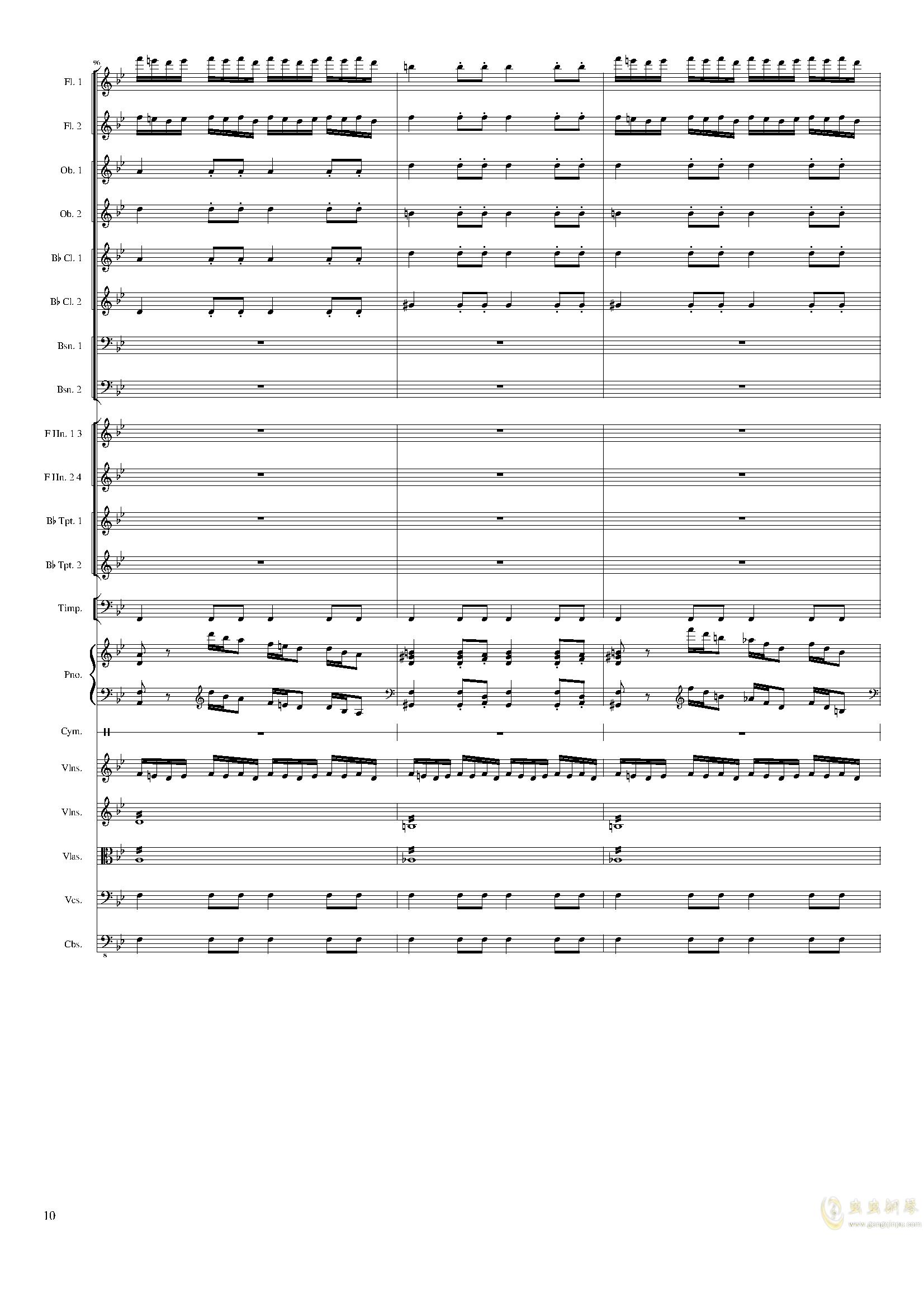 Piano Concerto No.8, Op.123 III.钢琴谱 第10页