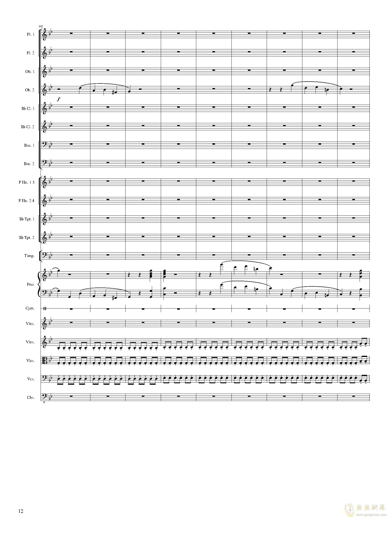 Piano Concerto No.8, Op.123 III.钢琴谱 第12页