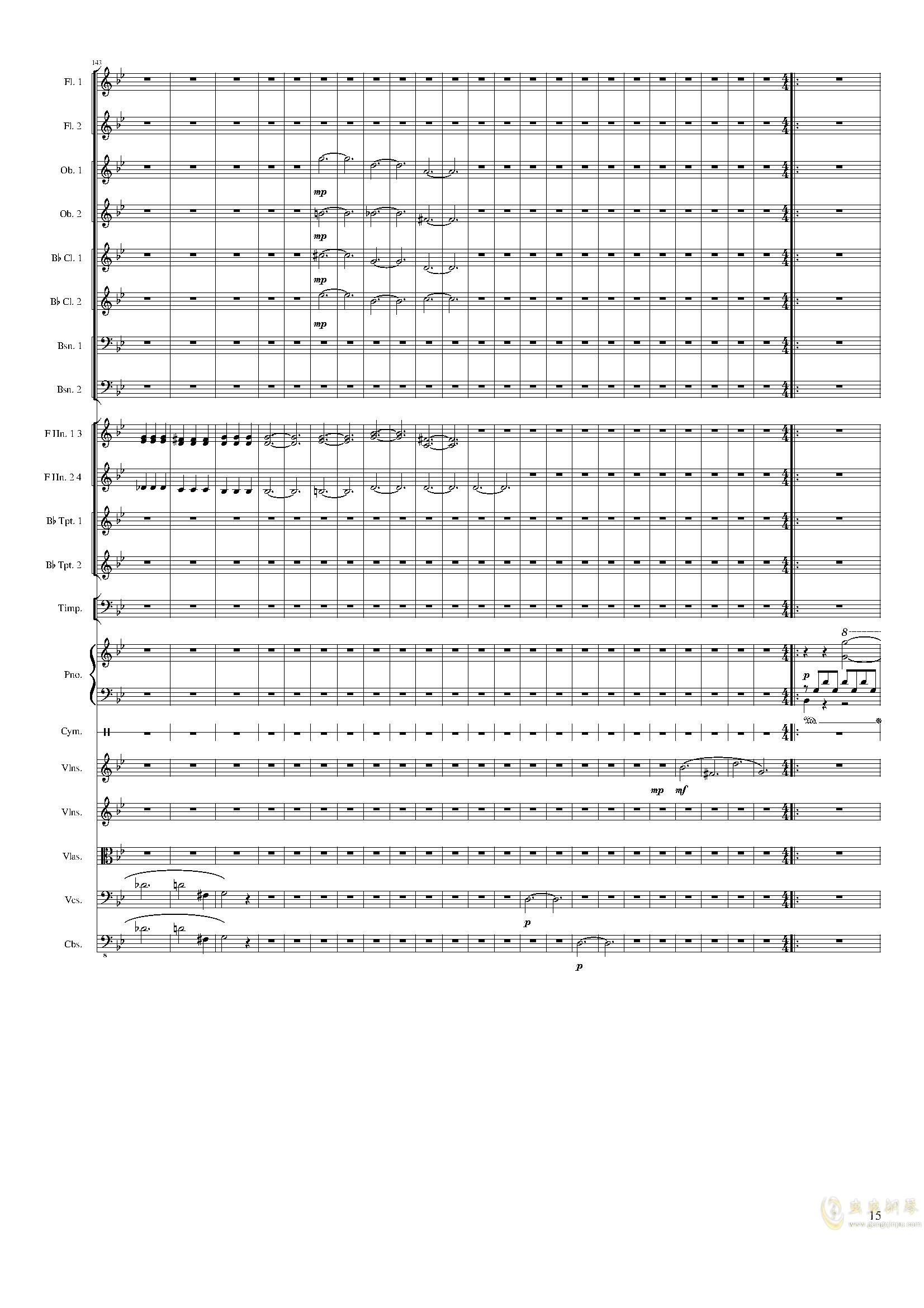 Piano Concerto No.8, Op.123 III.钢琴谱 第15页
