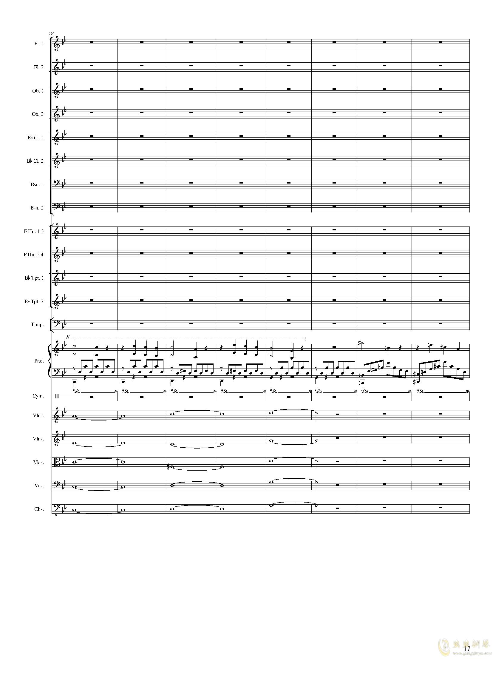 Piano Concerto No.8, Op.123 III.钢琴谱 第17页