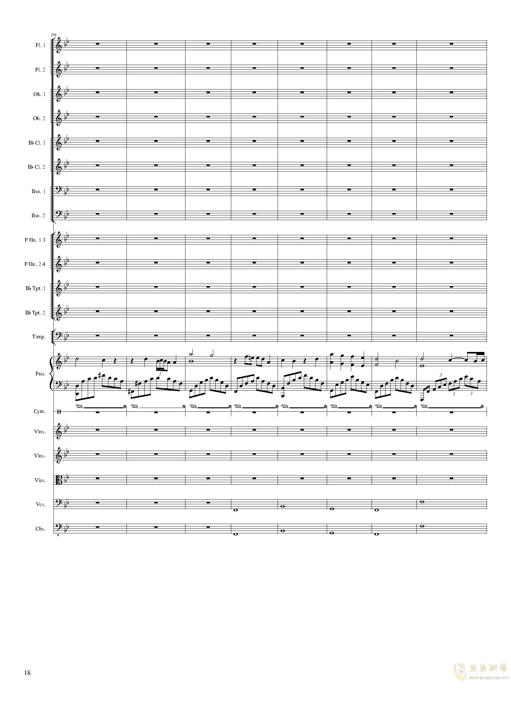 Piano Concerto No.8, Op.123 III.钢琴谱 第18页