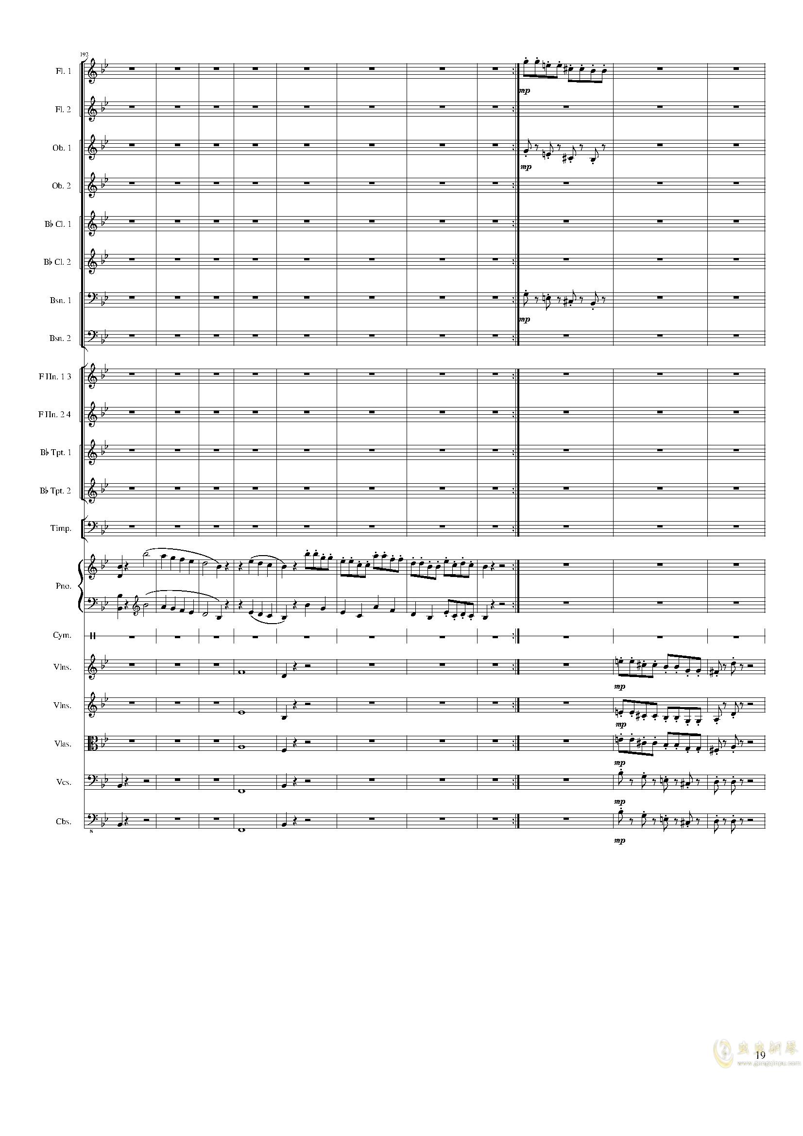 Piano Concerto No.8, Op.123 III.钢琴谱 第19页