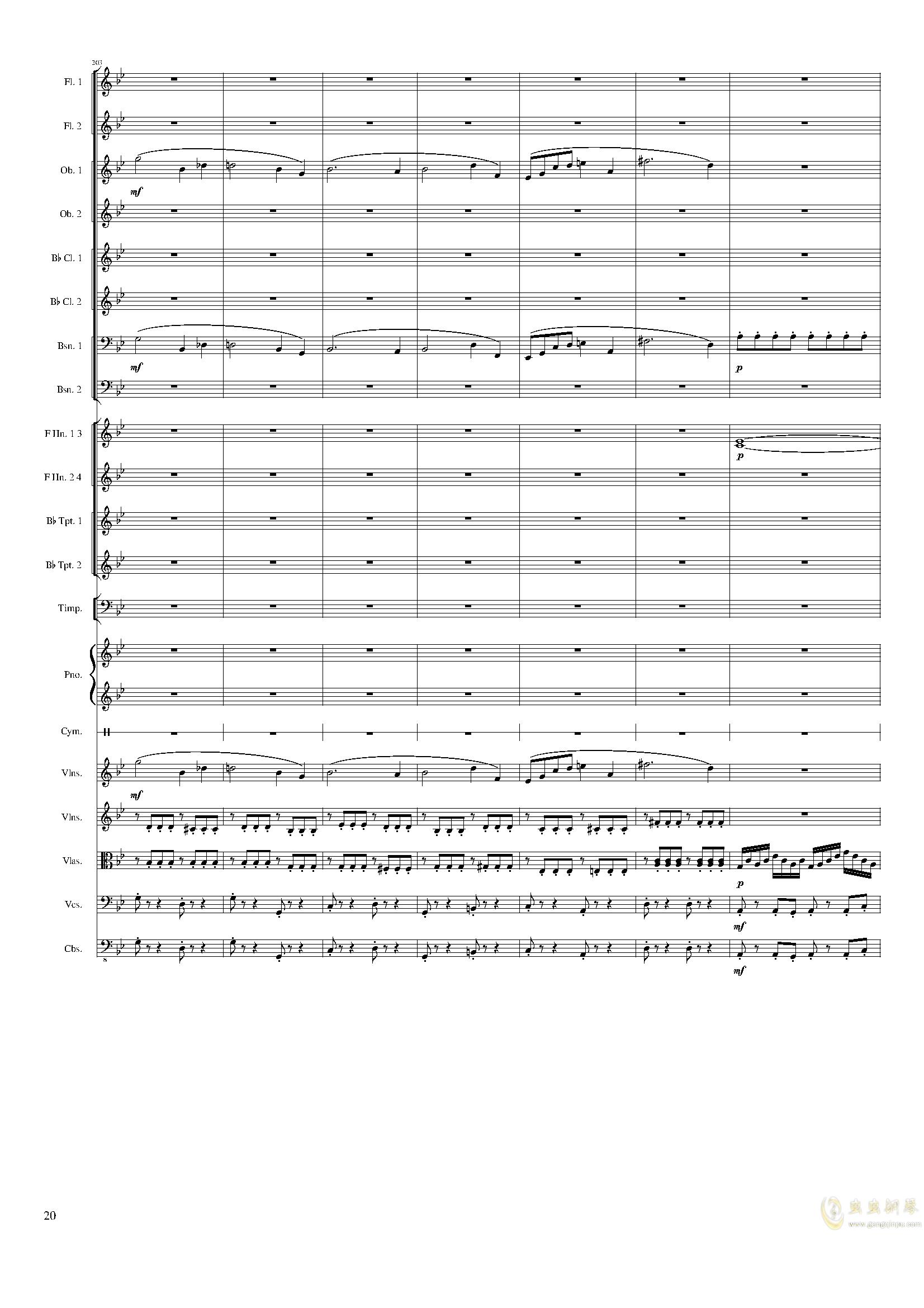 Piano Concerto No.8, Op.123 III.钢琴谱 第20页