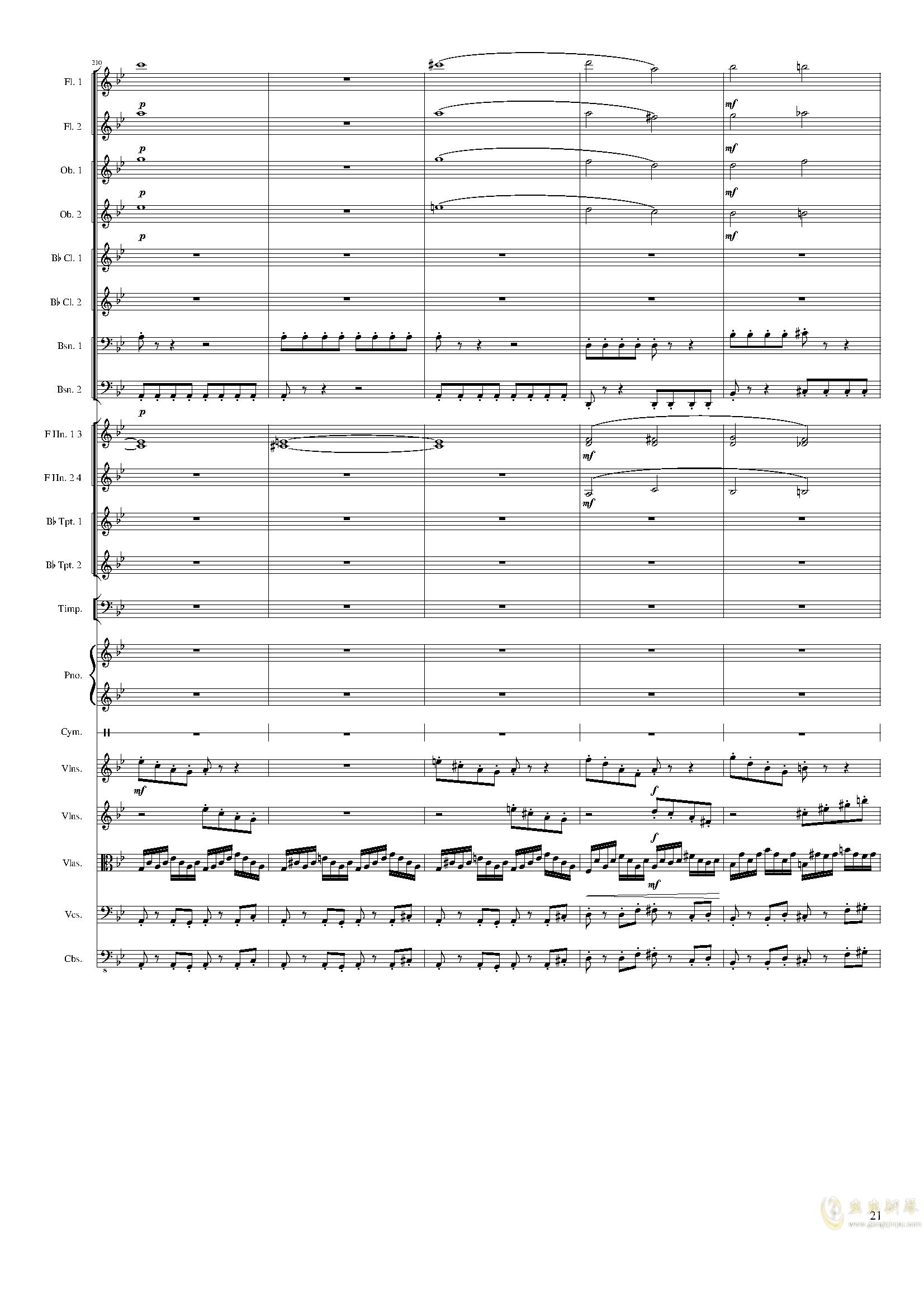 Piano Concerto No.8, Op.123 III.钢琴谱 第21页