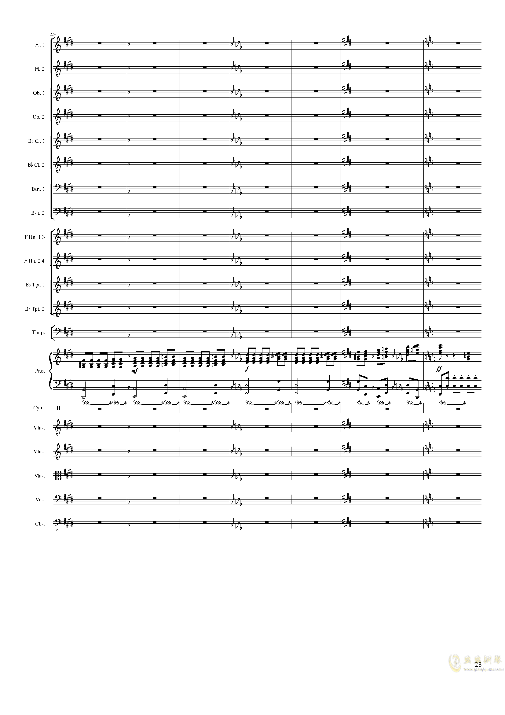 Piano Concerto No.8, Op.123 III.钢琴谱 第23页