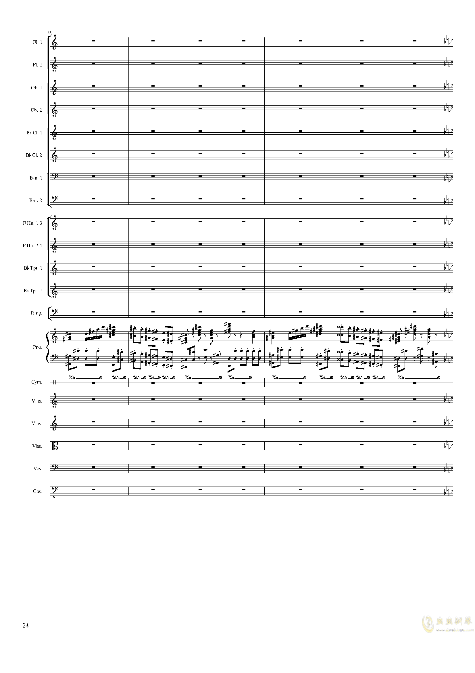 Piano Concerto No.8, Op.123 III.钢琴谱 第24页