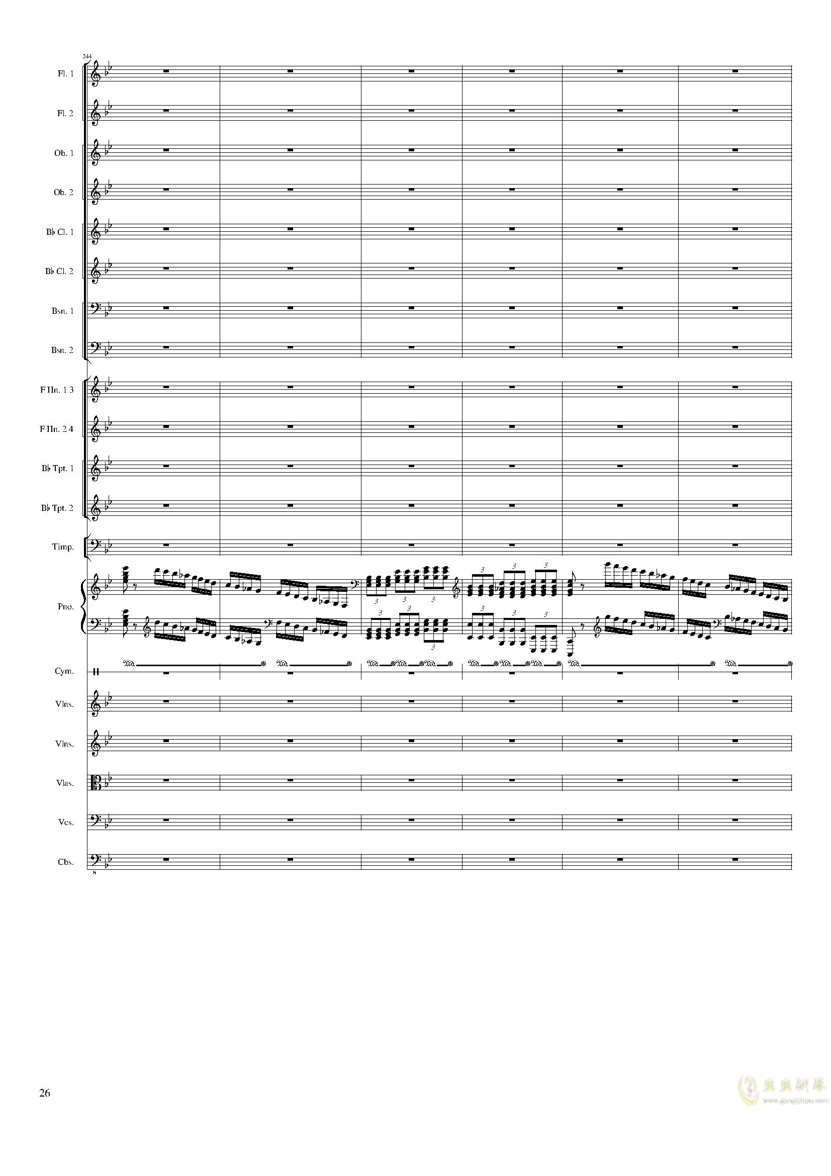 Piano Concerto No.8, Op.123 III.钢琴谱 第26页