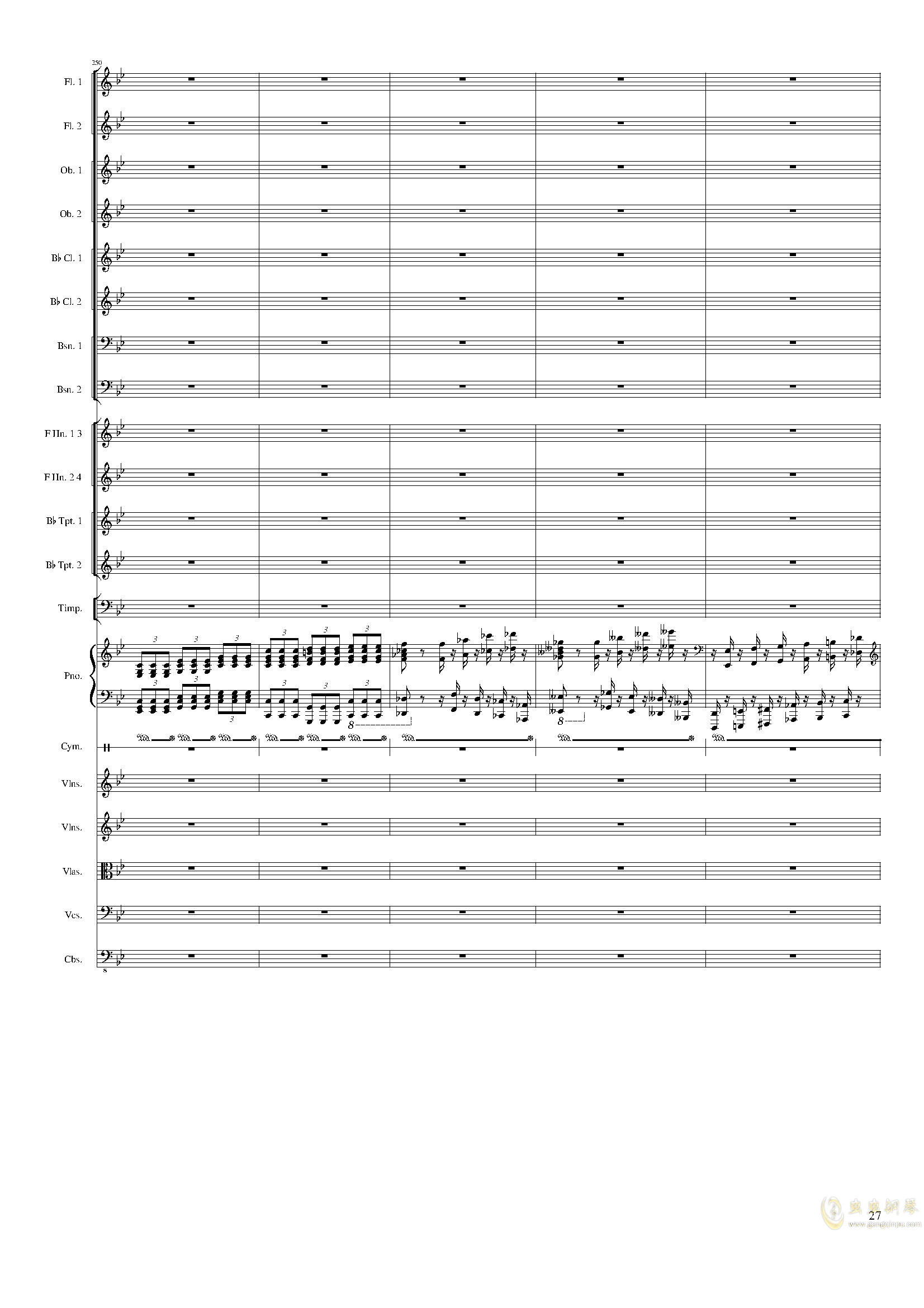 Piano Concerto No.8, Op.123 III.钢琴谱 第27页