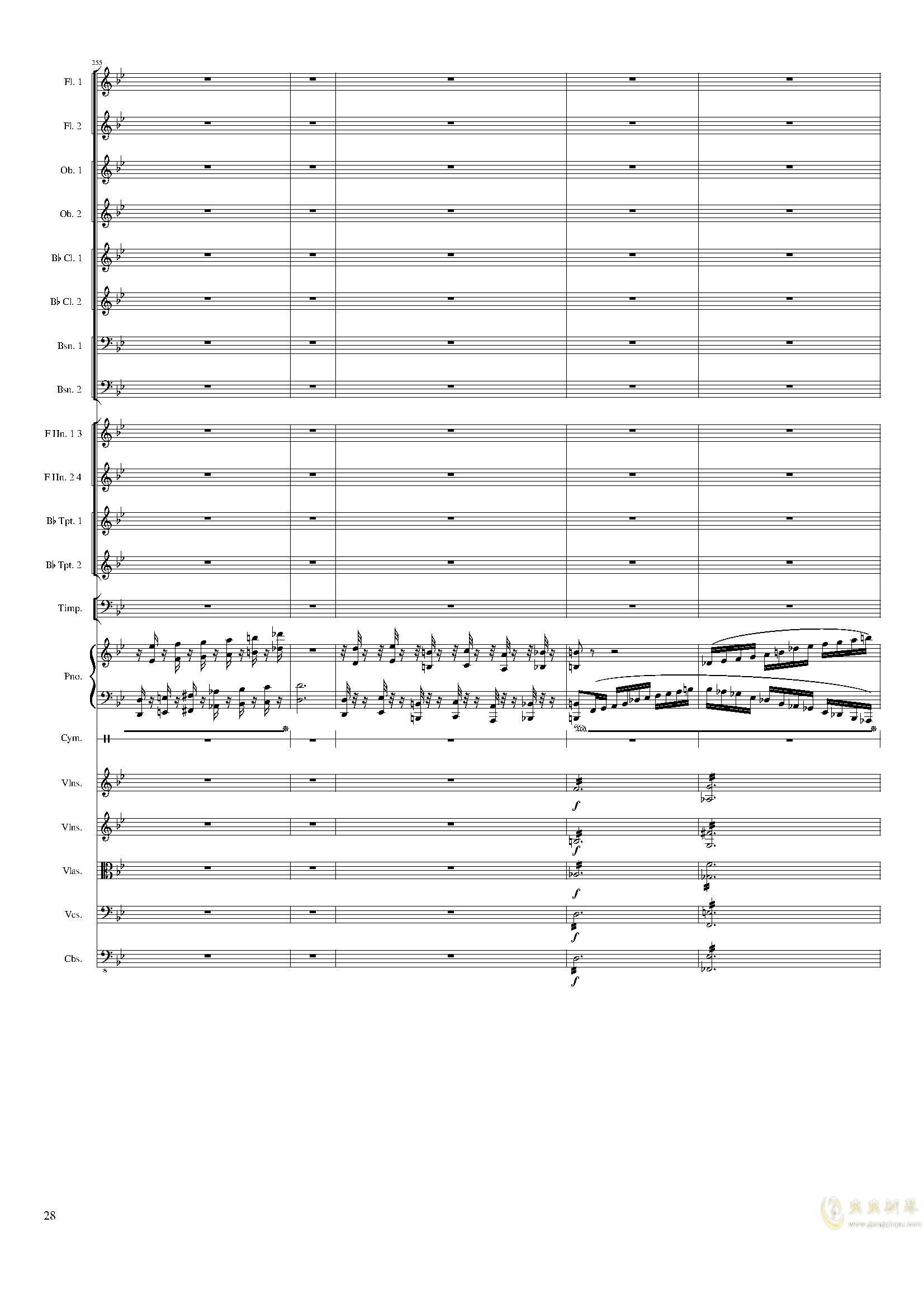 Piano Concerto No.8, Op.123 III.钢琴谱 第28页