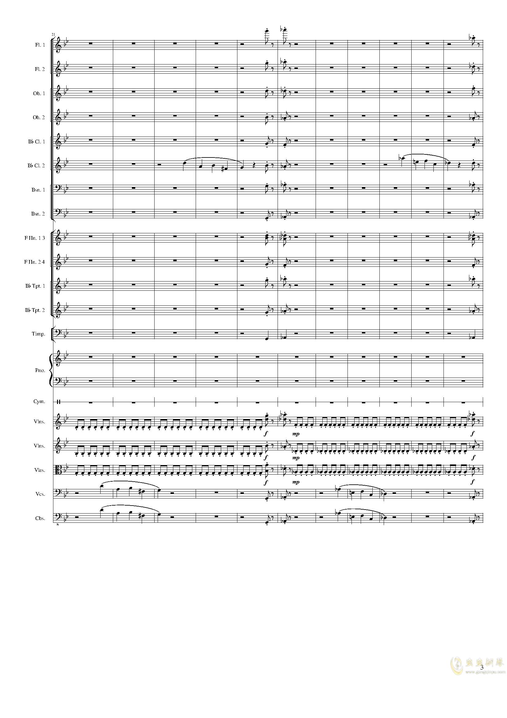 Piano Concerto No.8, Op.123 III.钢琴谱 第3页