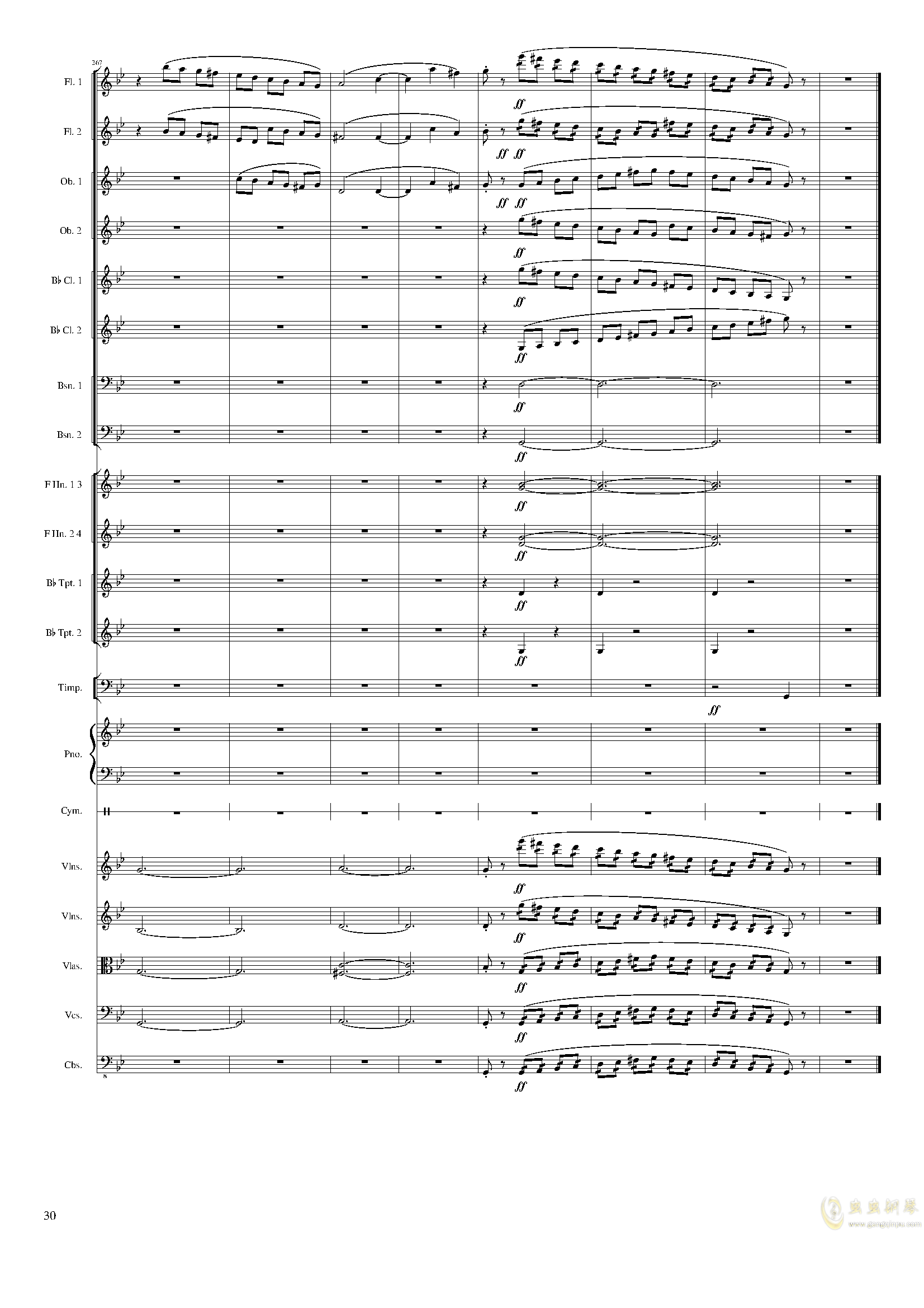 Piano Concerto No.8, Op.123 III.钢琴谱 第30页