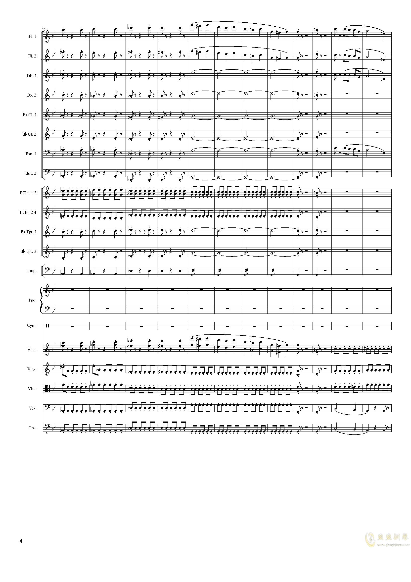 Piano Concerto No.8, Op.123 III.钢琴谱 第4页
